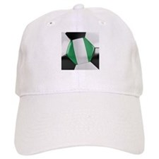 Nigeria Soccer Ball Baseball Cap