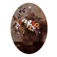 Fantin - Diverse Flowers Oval Ornament