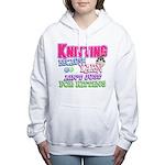 Knitting Kitten Women's Hooded Sweatshirt