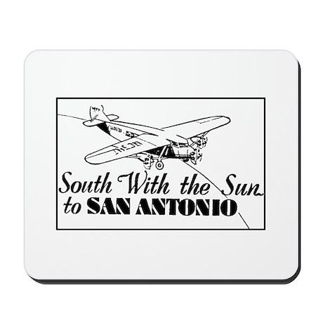 Retro San Antonio Texas Ad Mousepad