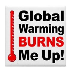 Global Warming Environmental Tile Coaster