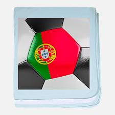 Portugal Soccer Ball baby blanket
