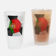 Portugal Soccer Ball Drinking Glass