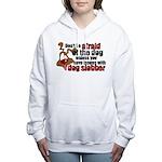 SLOBBER2.png Women's Hooded Sweatshirt