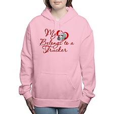 Trucker Heart Women's Hooded Sweatshirt