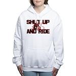 shut up ride .png Women's Hooded Sweatshirt