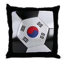 South Korea Soccer Ball Throw Pillow