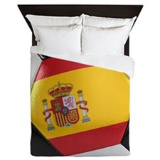 Spain Soccer Ball Queen Duvet