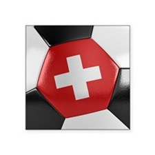 "Switzerland Soccer Ball Square Sticker 3"" x 3"""