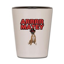 Pirate Boxer Dog Shot Glass