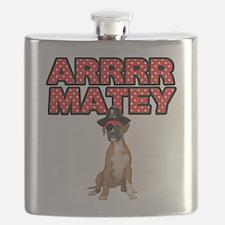 Pirate Boxer Dog Flask