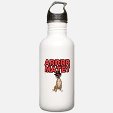 Pirate Boxer Dog Water Bottle