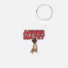 Pirate Boxer Dog Keychains