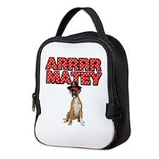 Pirate Boxer Dog Neoprene Lunch Bag