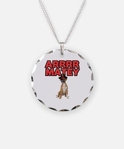 Pirate Boxer Dog Necklace