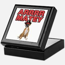 Pirate Boxer Dog Keepsake Box