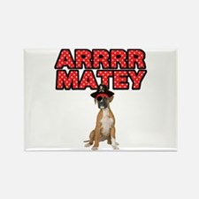 Pirate Boxer Dog Rectangle Magnet