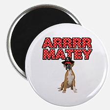 Pirate Boxer Dog Magnet