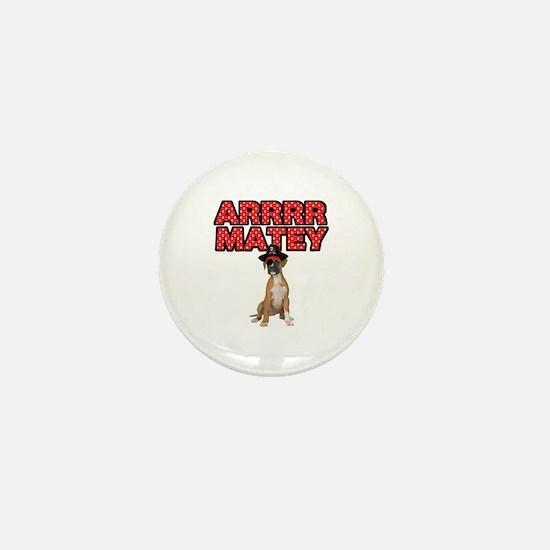 Pirate Boxer Dog Mini Button