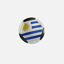 Uruguay Soccer Ball Mini Button