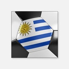 "Uruguay Soccer Ball Square Sticker 3"" x 3"""