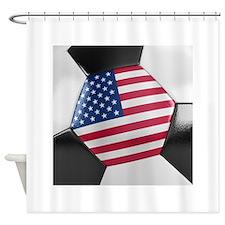 USA Soccer Ball Shower Curtain