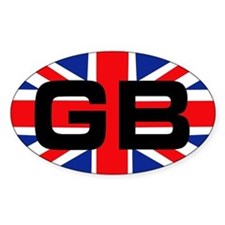 GB union jack Oval Decal