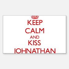 Keep Calm and Kiss Johnathan Decal