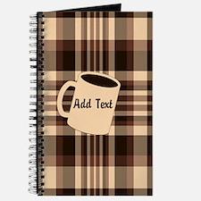 Cup of Coffee plaid dark Journal