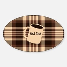 Cup of Coffee plaid dark Decal