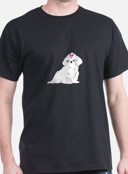 Puppy With Bow T-Shirt