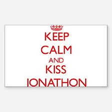 Keep Calm and Kiss Jonathon Decal