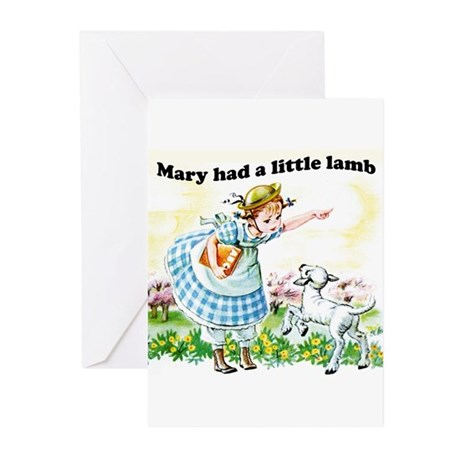 Mary Had a Little Lamb Greeting Cards (Package of