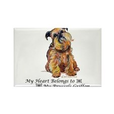 Brussels Griffon Heart Magnets