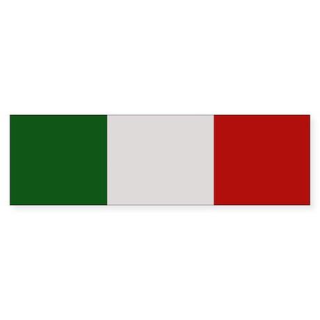 """Italy Flag"" Bumper Sticker"