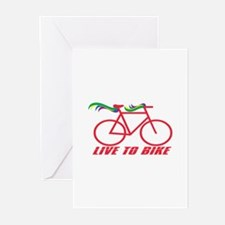 Live To Bike Greeting Cards