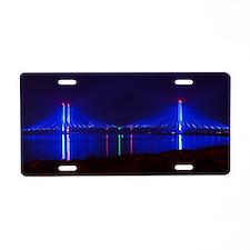 Indian River Bridge Night 2 Aluminum License Plate