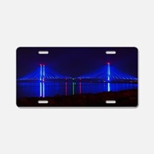 Indian River Bridge Night 2 Aluminum License Plate