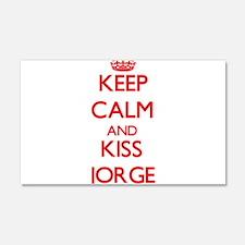 Keep Calm and Kiss Jorge Wall Decal