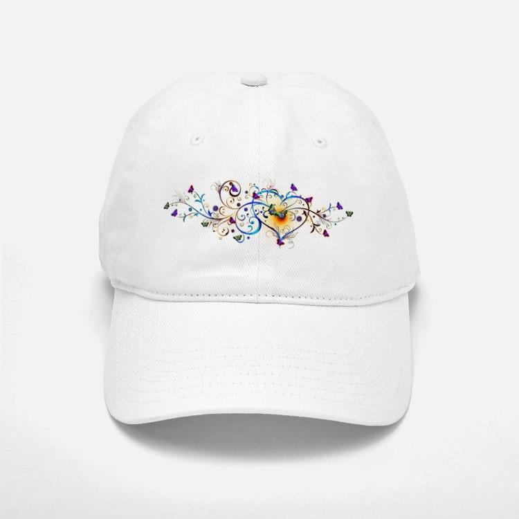 Heart and butterflies Baseball Baseball Baseball Cap
