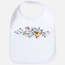 Heart and butterflies Bib