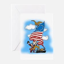 Vintage Patriotic Greeting Cards (Pk of 10)