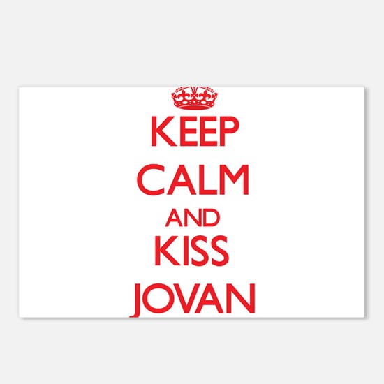 Keep Calm and Kiss Jovan Postcards (Package of 8)