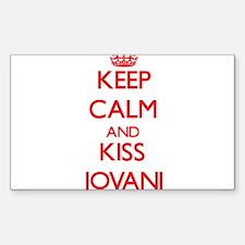 Keep Calm and Kiss Jovani Decal