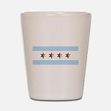 Chicago Municipal Pride Flag Shot Glass
