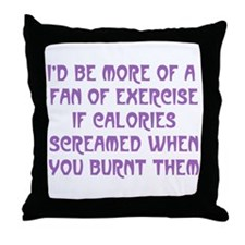 Fan of Exercise Throw Pillow