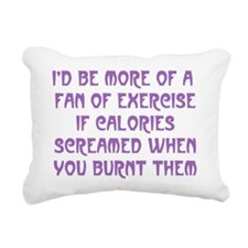 Fan of Exercise Rectangular Canvas Pillow