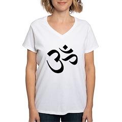Om Women's V-Neck T-Shirt