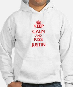 Keep Calm and Kiss Justin Hoodie