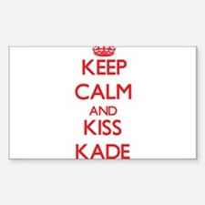 Keep Calm and Kiss Kade Decal